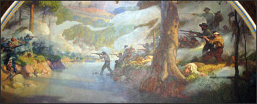 The mural of the Wilson's Creek Battle at the State Capital in Jefferson City.