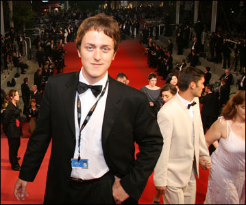 Drew Stewart at the Cannes Film Festival