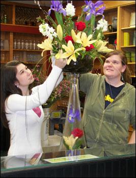 Teresa Brooks (left) and Mary Leykamp