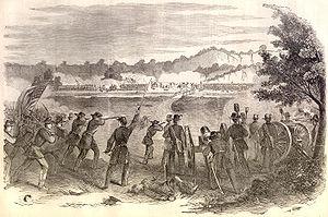 The Battle of Carthage in Missouri, in 1861 du...
