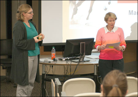 Assistant Dean Shari Freyermuth described how Crosby makes a difference in and out of the classroom.