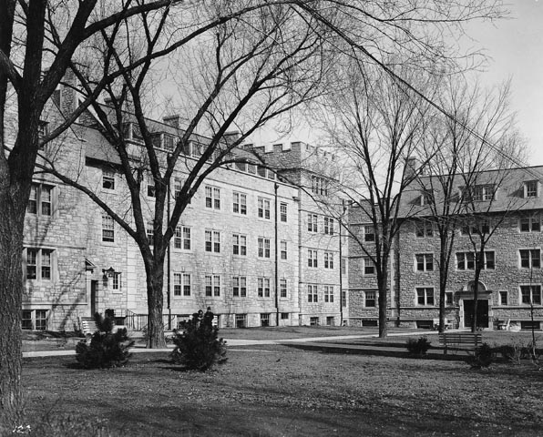 Gentry Hall as it appeared in 1952. Today, Gentry Hall provides space for CAFNR's Division of Applied Social Sciences, Agricultural Education, Agricultural Journalism, Rural Sociology, Community Development Extension, ExCEED (Extension Community Economic and Entrepreneurial Development program), CAFNR Communications, the Cambio Center, Black Studies, Human Development and Family Studies, and Building Technology.