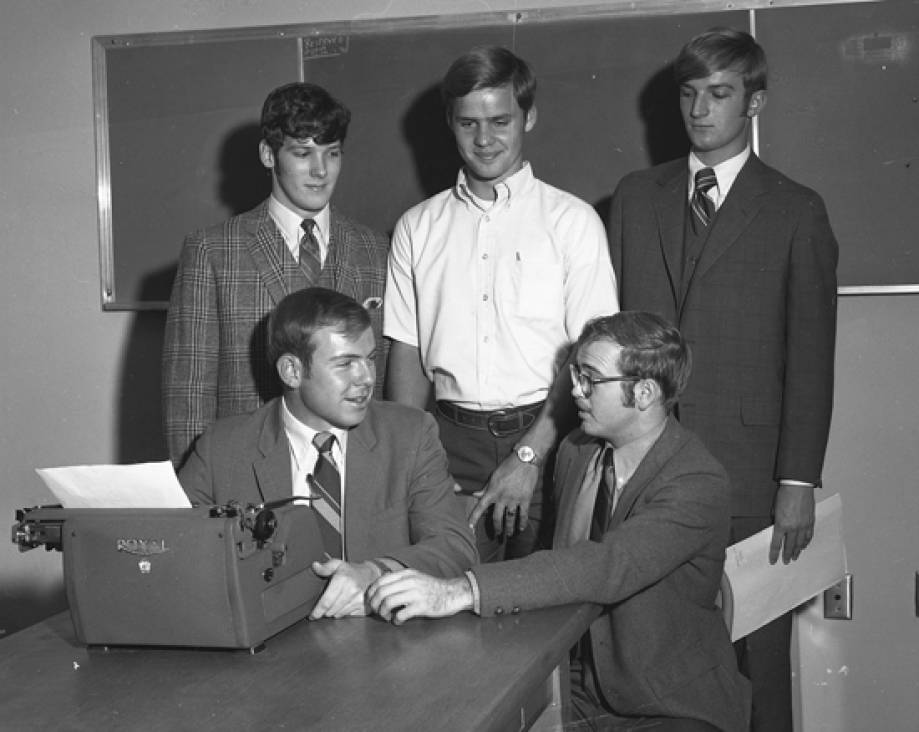 Ag Journalism Club officers, 1970