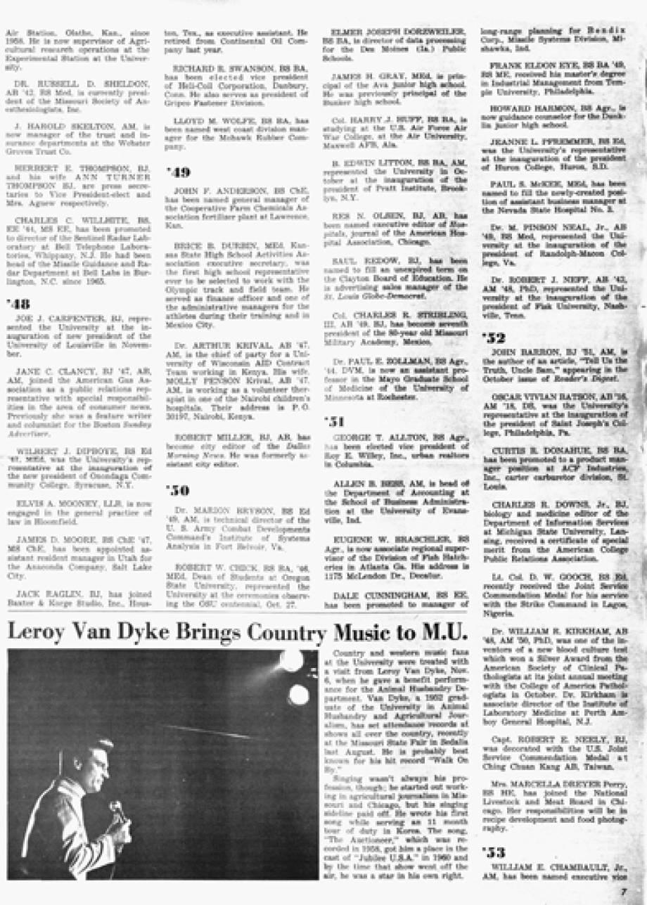 Leroy Van Dkye, Alumnus 1968