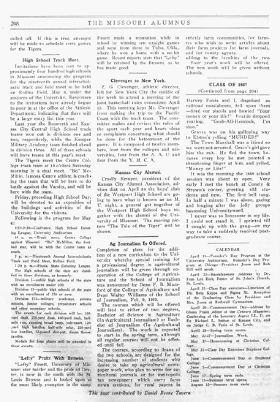 Alumnus, April 1922