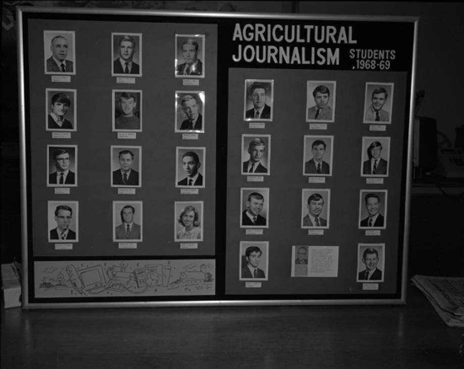 Ag Journalism student display, 1968-1969