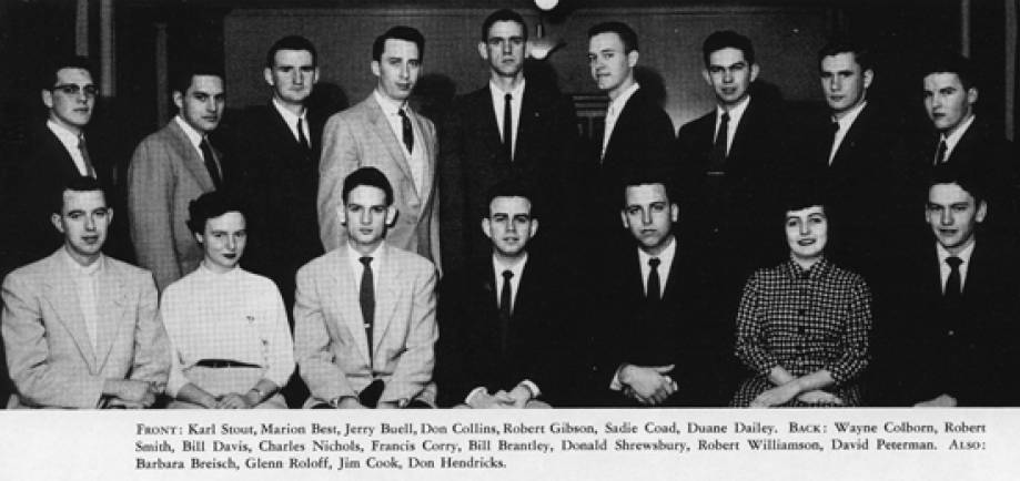College Farmer staff, 1955