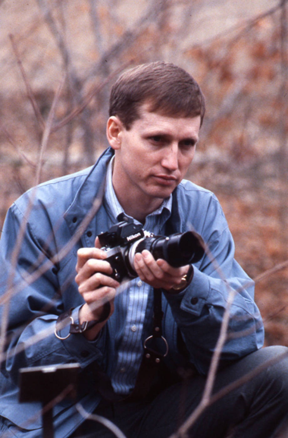 George Laur with camera
