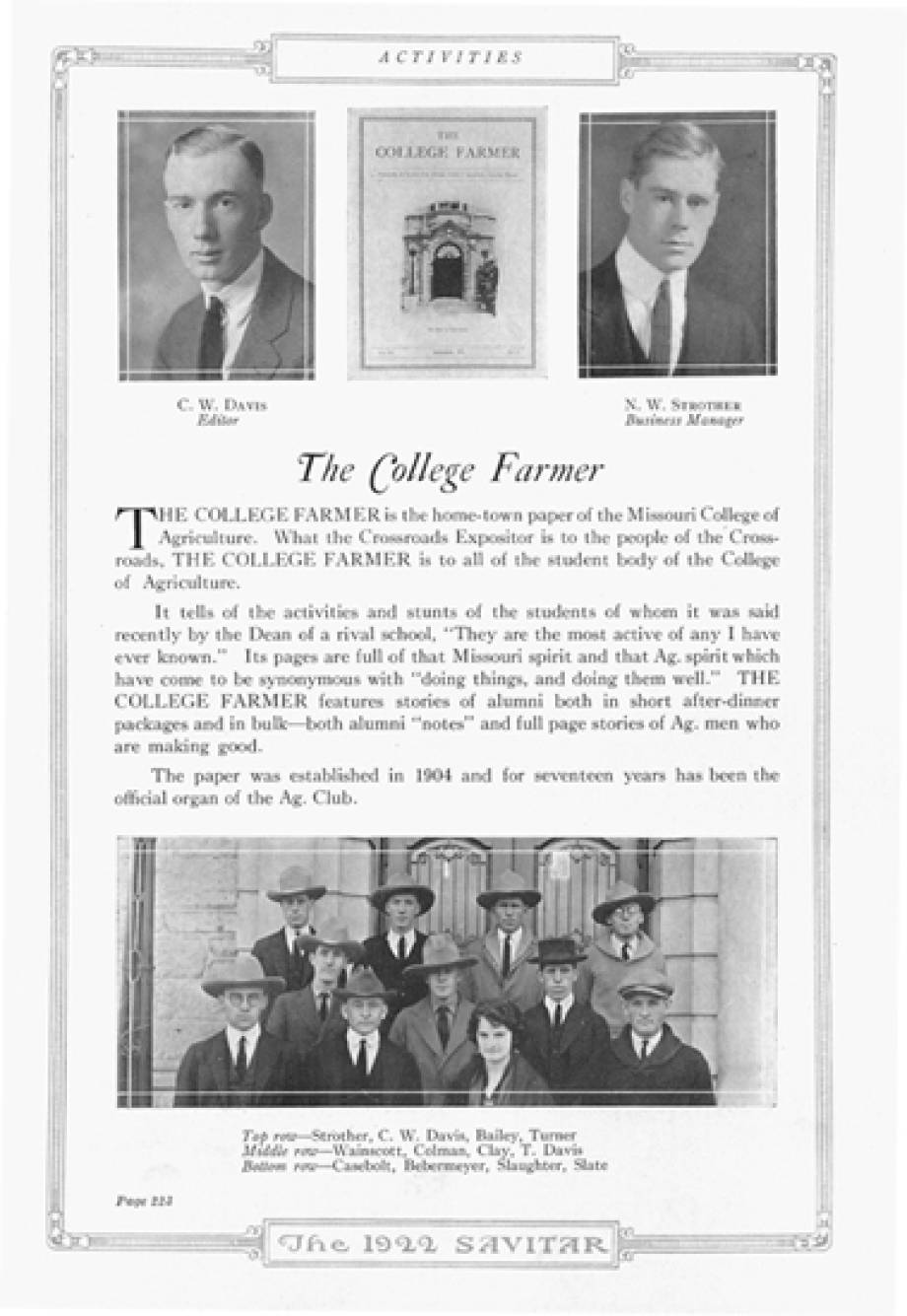 The College Farmer