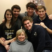 Cheryl Stevens, bottom, along with French students (clockwise, from left): Audrey Dejean, Charles Zerbib, Nikola Cuk, Vincent Guertault and Laurent Mulliez.