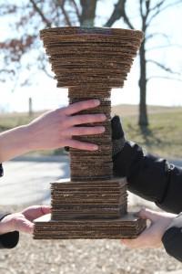 The 2012 Cardboard Trophy.
