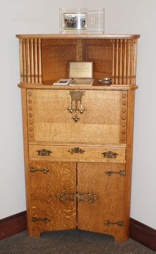 A hutch once owned by William Henry Hatch.