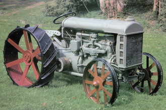 During World War I, Mumford encouraged farmers to boost production to 42 bushels an acre by adopting mechanization such as the Fordson tractor. Missouri farmers listened and a staple of the state's economy to that time, the Missouri mule, passed into the history books. Courtesy New Holland Corporation.
