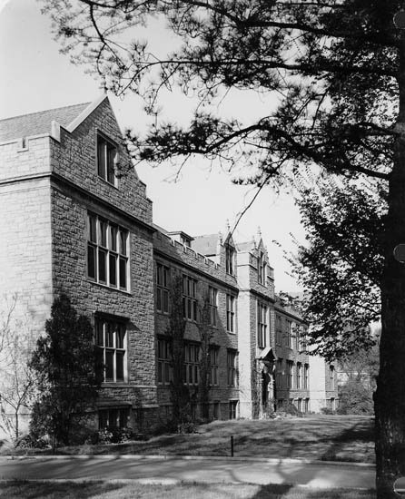 The Agriculture Buidling, one of several major buildings constructed during Mumford's tenure, was renamed Mumford Hall. It served as the headquarters for the College of Agriculture unti the current Agriculture Building opened during the Kennedy Administration. Courtesy University Missouri Archives.