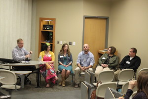 During lunch, CAFNR Alumni held a panel discussing how leadership roles have helped them with their careers.