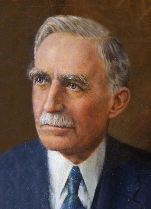 Frederick Mumford's official portrait painted at the time of his retirement.
