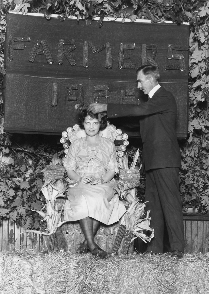 In 1920, Mumford crowned Miss Missouri Farmer at the Farmers' Fair. Six years before, he began one of the first degree programs for women in the sciences. Courtesy Univerity of Missouri Archives.