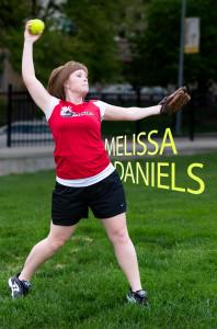 Melissa Daniels pitching