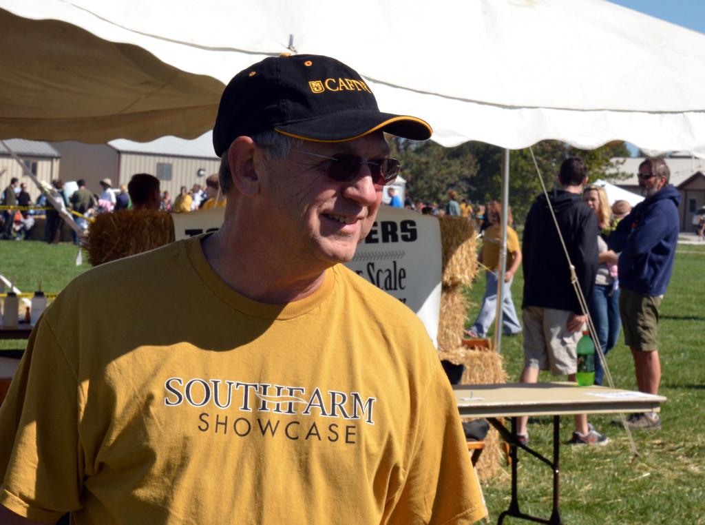 John Poehlmann at the annual South Farm Showcase