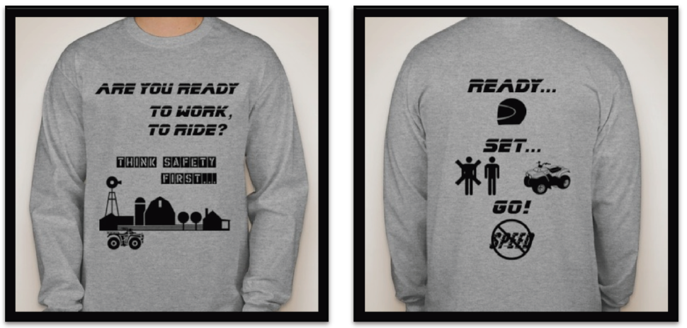 The t-shirt design submission made by Courtney Leeper.