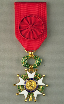The French Legion of Honor medal.