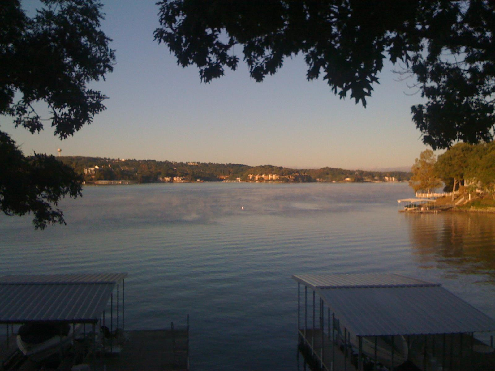Taylor and wife, Kristen, enjoy sitting outside and watching the sunrise over the Lake of the Ozarks before they head back to Columbia Monday mornings.