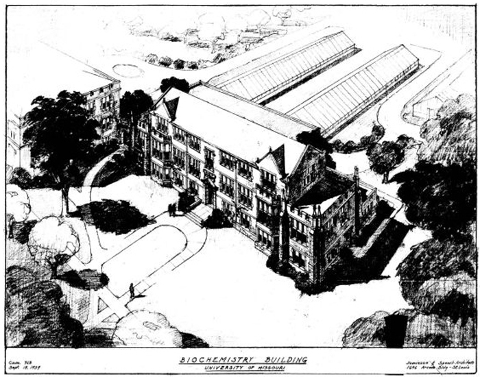 Artist Rendering Curtis Hall 1939