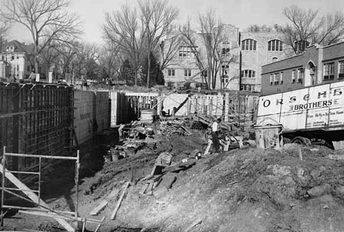 Foundation of Ag Building 1958
