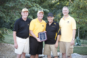 Buckner, second from left, receives his Citation of Merit at the Mizzou Ag Alumni Association's annual Steak Fry Sept. 6.