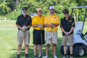 Tiger Ag Classic's winning team. From left to right: Gene Gerke, Bill Buckner, Emilio Cuartero and Tom Payne.