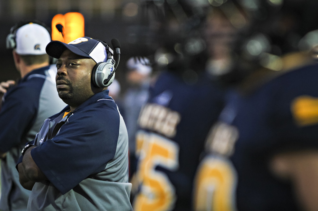 Gary Tyler, computer support specialist for MU Division of Plant Sciences, is also an assistant coach for the new football team at Battle High School in Columbia.