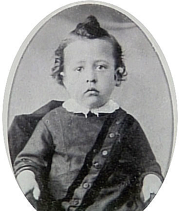 James Cash Penny as a toddler in Hamilton, Mo. Courtesy J.C. Penney Museum.