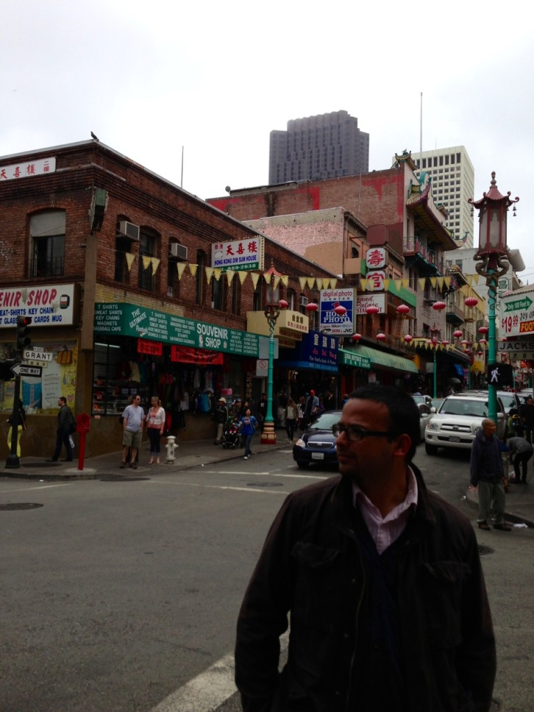 """Singh in China Town in San Francisco, or """"a true foodie's paradise."""""""
