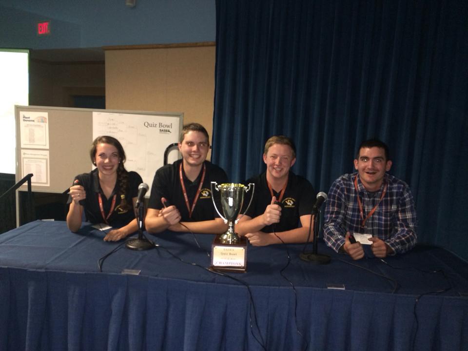 The winning Quiz Bowl team consisted of Kaitlin Flick, Garth Duncan, Matthew Caldwell & Jonathan Steo