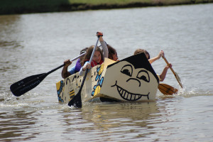By Student Groups Community Organizations Businesses Individuals Families And Media Companies Boats Were Constructed Of Cardboard Duct Tape