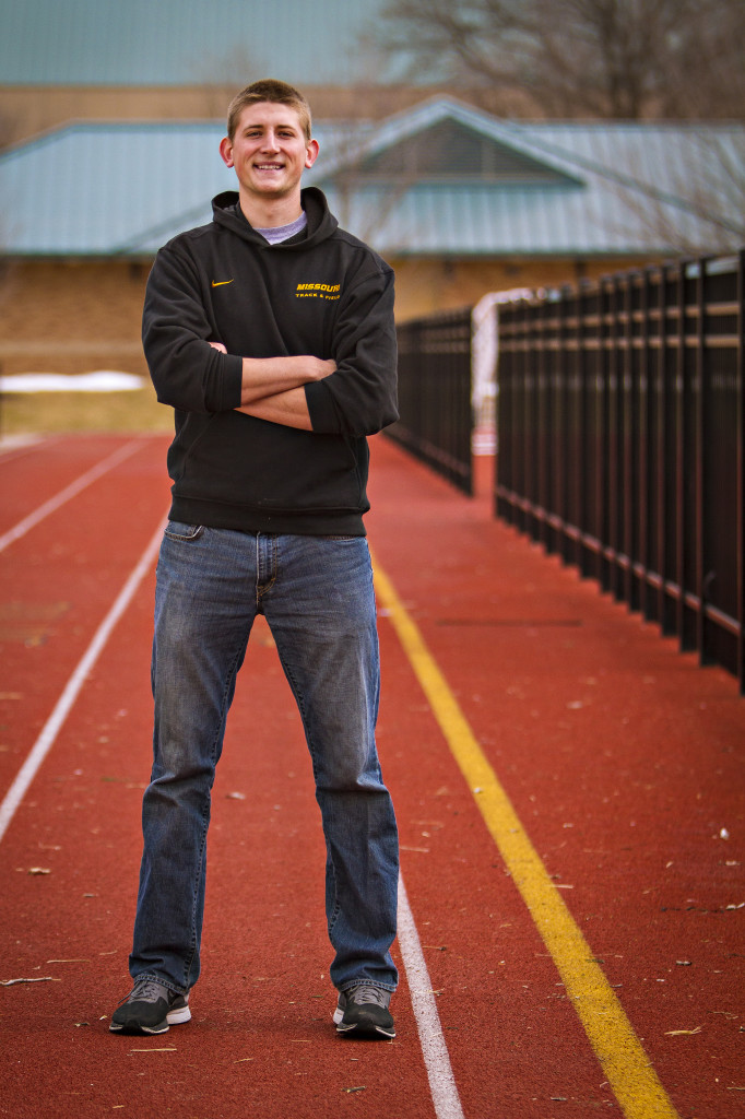 Tanner Buschmann, a sophomore biochemistry major also is a member of the Mizzou Track and Field Team. He participates in the discuss and believes that CAFNR's staff and faculty provide a great environment for him to study and participate in athletics.
