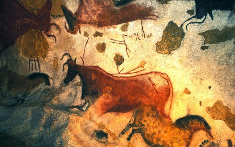France's Ice Cave in the Dordogne/Lot region and the Midi-Pyrénées contains drawings of ancient cattle. The drawings are around 10,000 years old. Courtesy the Government of France.