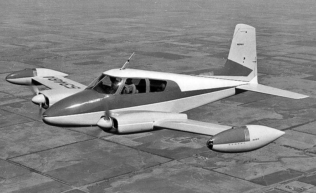 MU's Cessna 310 was a sister ship to the famous Songbird, flown by TV aviator-cowboy Sky King from the Flying Crown Ranch. This airplane performed aero-medical missions for MU and was replaced with an air ambulance helicopter. Courtesy Cessna Aircraft.