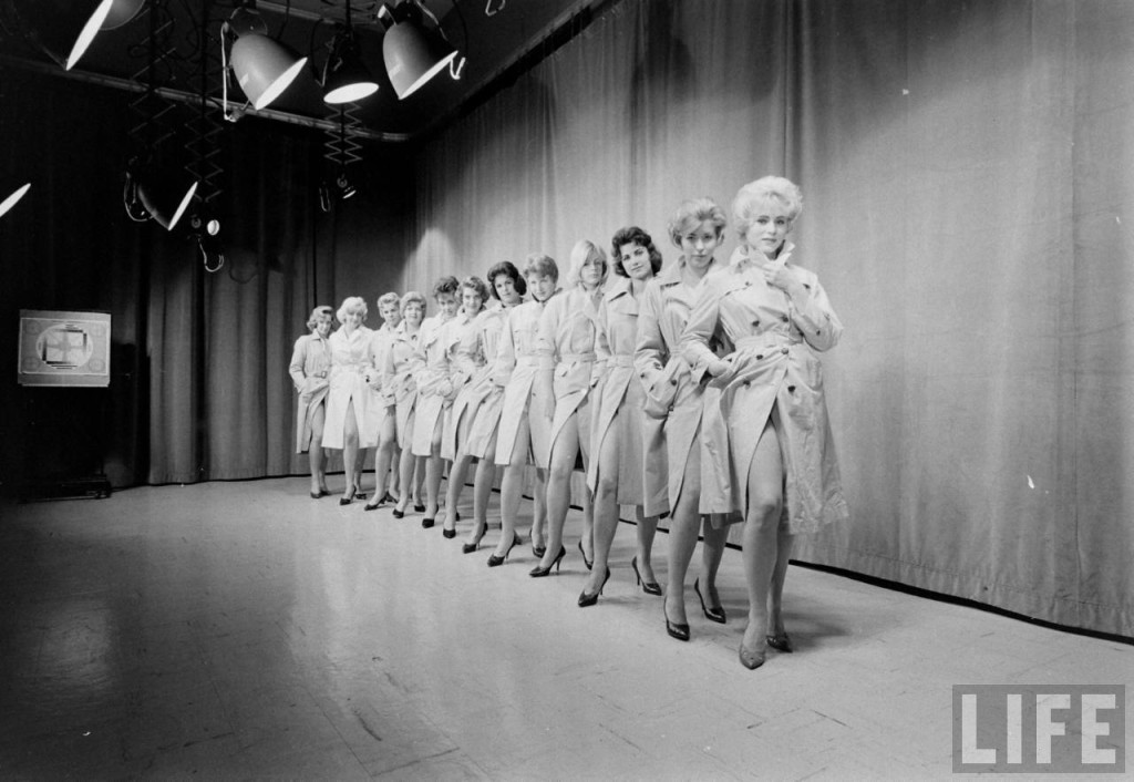 Miss Mizzou contestants line up on the Jesse Hall stage. Courtesy the Historical Archives of Time-Life.