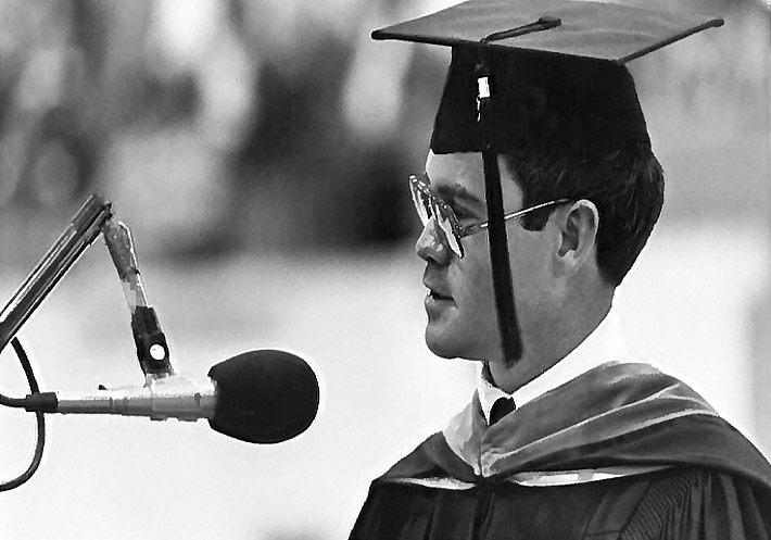 From student to commencement speaker.