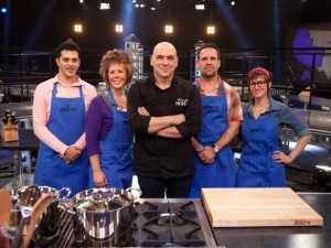 Fahrmeier (second from left) on team North led by Michael Symon (center)