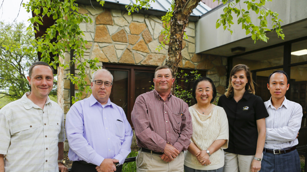 From left to right: Bob Schnabel, Scott Brown, Bruce Burdick, Eliza Tse, Melissa Mitchum and Mengshi Lin.