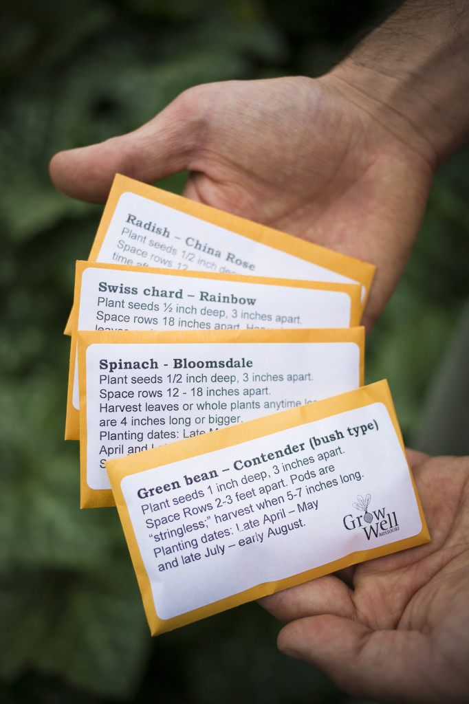 Examples of seeds distributed through the Grow Well Program.