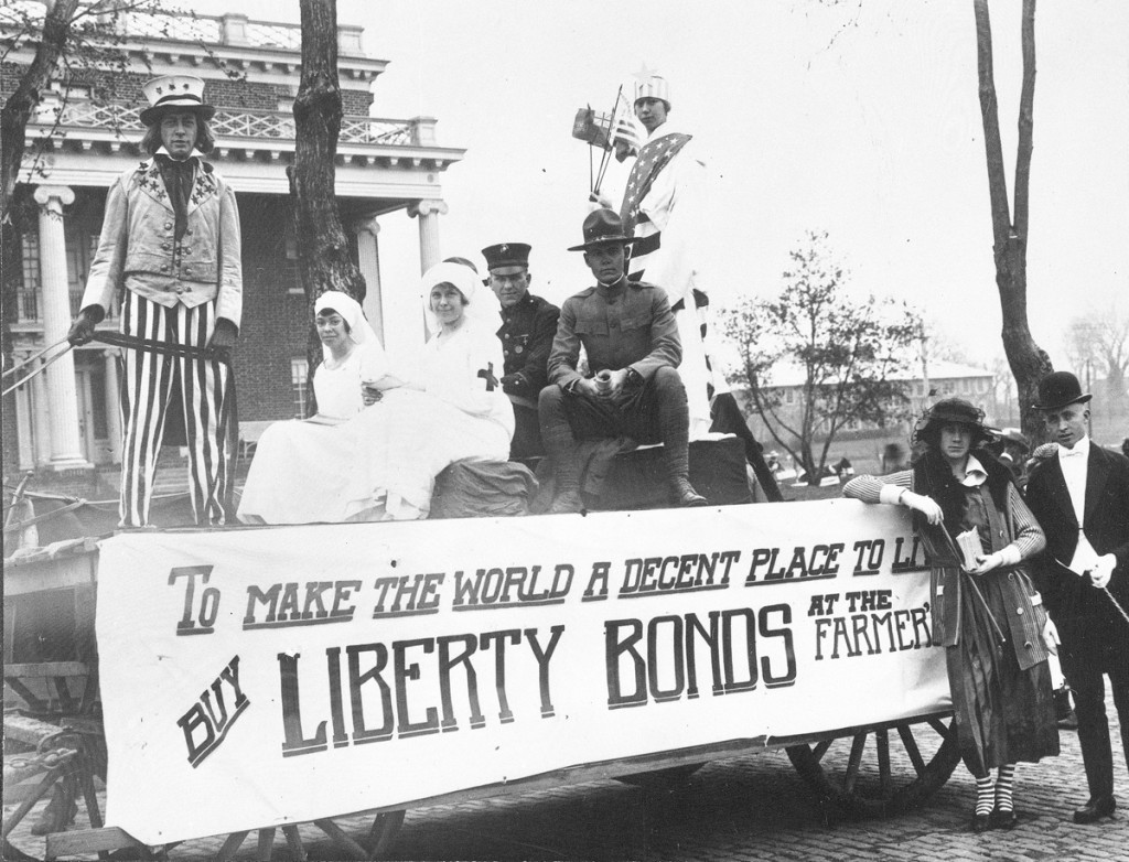 Buy Bonds float 1918. Courtesy University Archives.