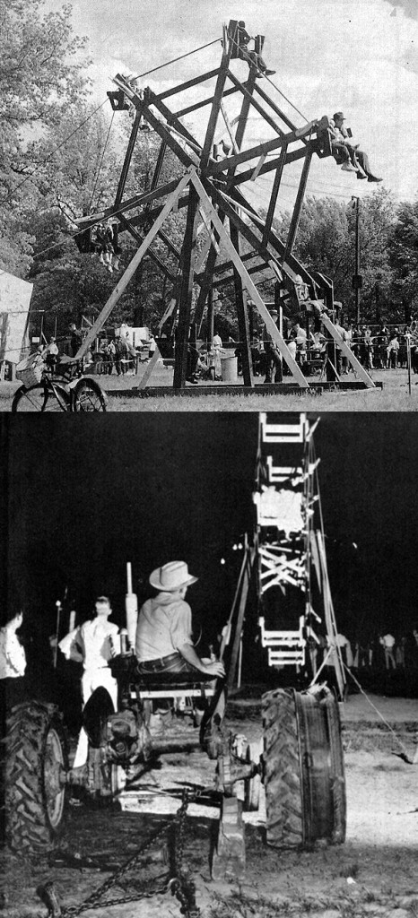 Tractor-powered Ferris wheel 1939.