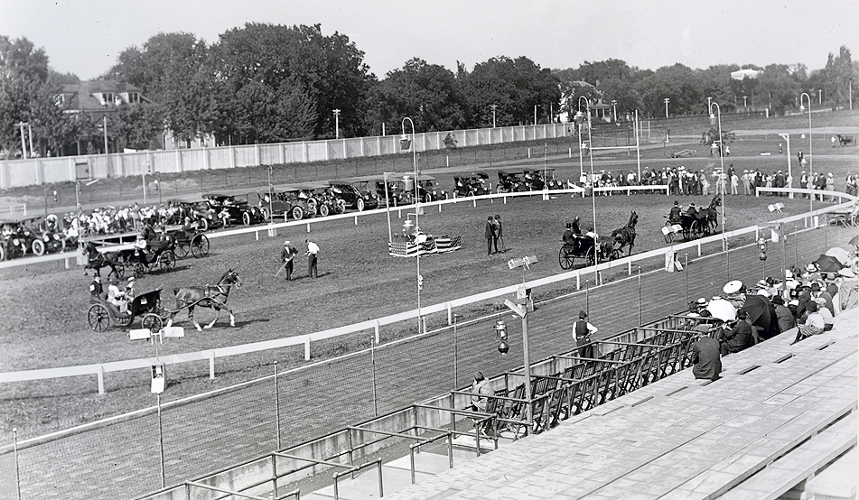 A favorite part of the week was the Horse Show held at Rollins Field, now Stankowski Field. Courtesy University Archives.
