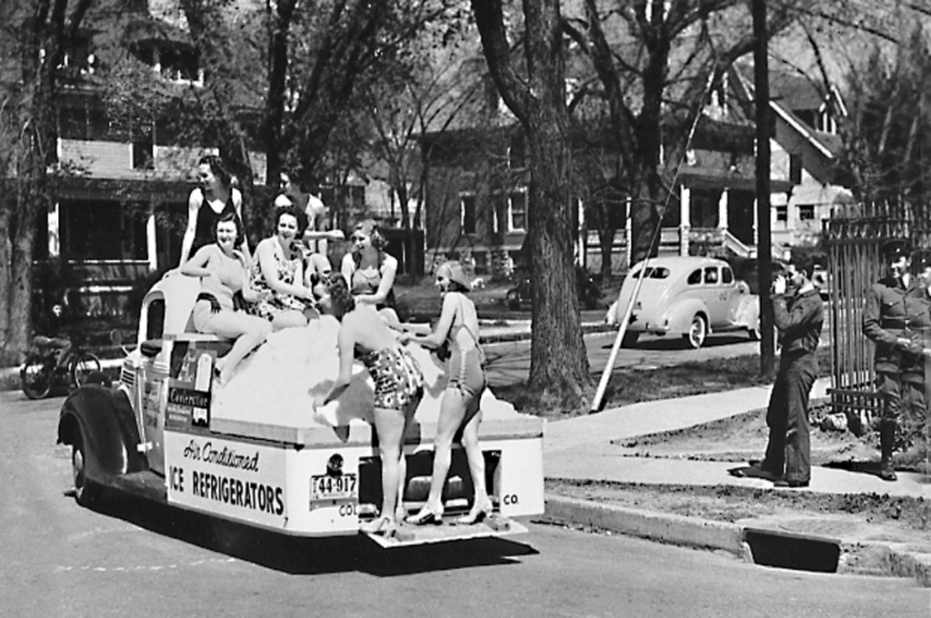 Ice refrigerator float 1938. Courtesy University Archives.