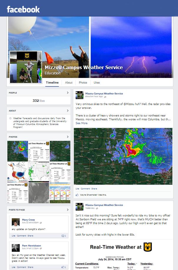 Mizzou Campus Weather Service   Facebook