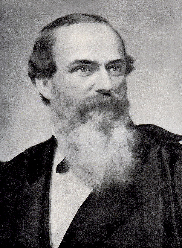 James S. Rollins was born in Richmond, Kentucky. He studied at the Richmond Academy, attended Washington College (now Washington and Jefferson College) in Pennsylvania, and graduated from Indiana University in 1830. The Rollins family moved to Boone County that same year. Courtesy University Archives.