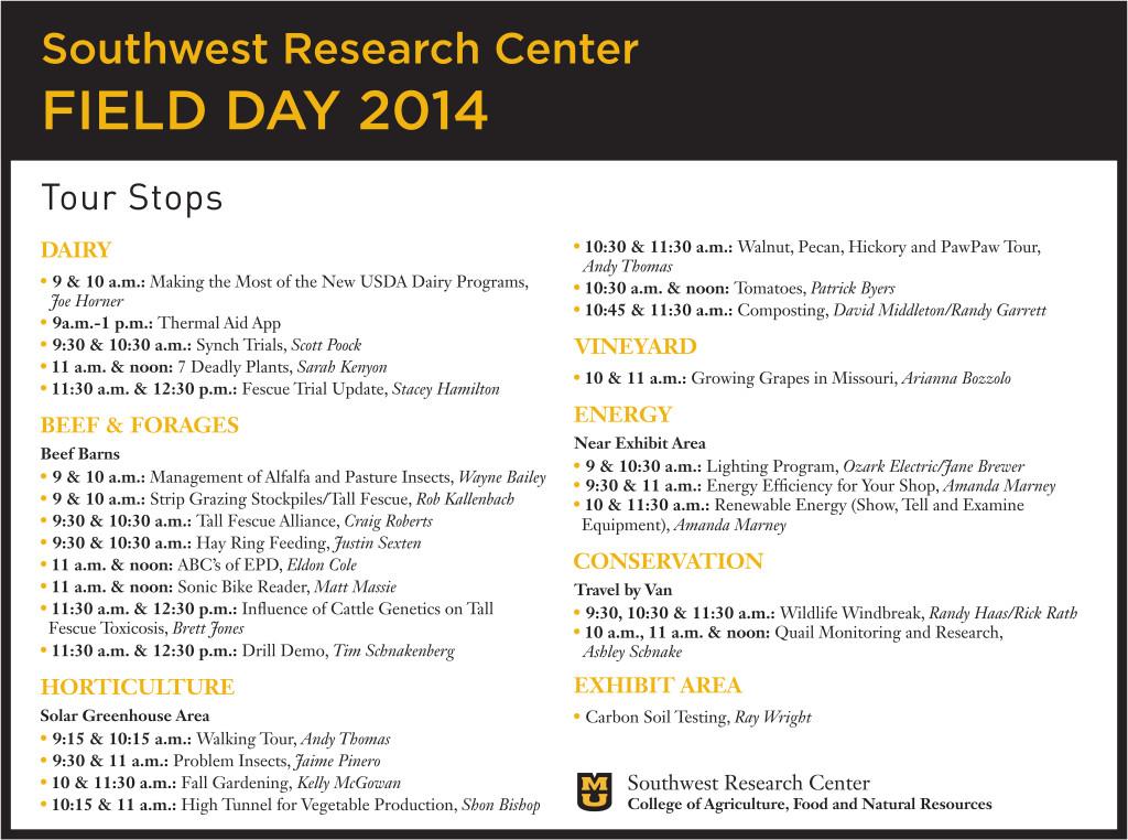 SW Speaker poster - 2014 Field Day